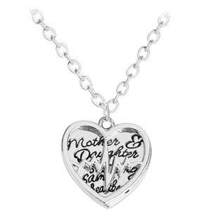 Jewelry - Mom Child EKG Heartbeat Heart Pendant Necklace